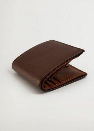 Кошелек под сафьян - Wallet1 Mango. Цвет: коричневый