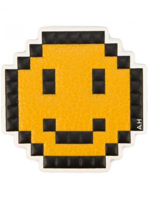 Стикер Pixel Smiley Anya Hindmarch. Цвет: желтый