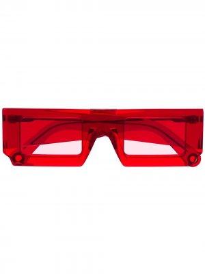 Солнцезащитные очки Soleil в квадратной оправе Jacquemus. Цвет: красный
