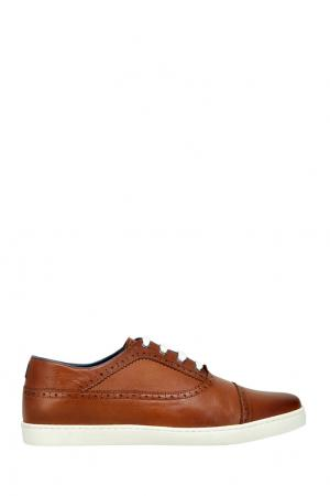 Кожаные ботинки CR7. Цвет: коричневый