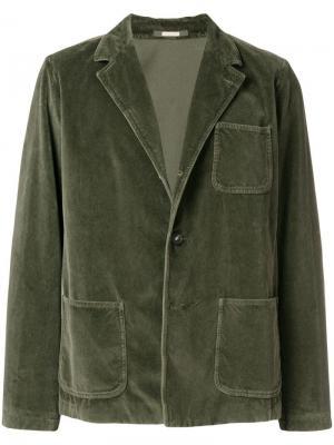 Пиджак прямого кроя Massimo Alba. Цвет: зеленый