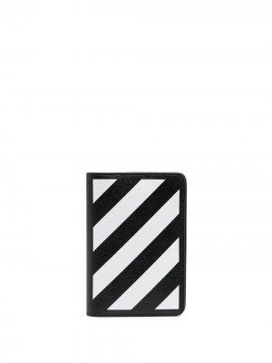 Обложка для паспорта Diag Off-White. Цвет: черный