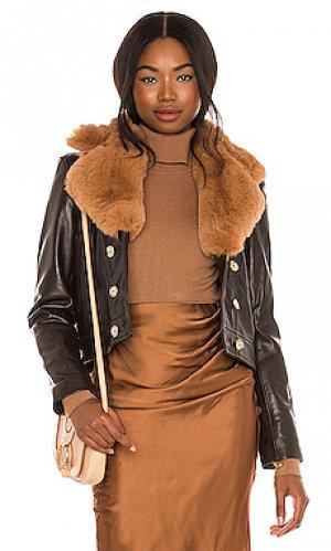 Куртка quincy Understated Leather. Цвет: черный