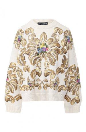 Шерстяной пуловер Dolce & Gabbana. Цвет: разноцветный
