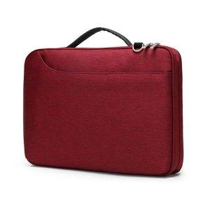 14-дюймовая сумка для ноутбука SHEIN. Цвет: бургундия