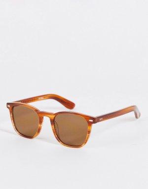 Квадратные солнцезащитные очки унисекс в оправе с черепаховым дизайном коричневыми линзами Spitifre Cut Twenty Four-Коричневый цвет Spitfire