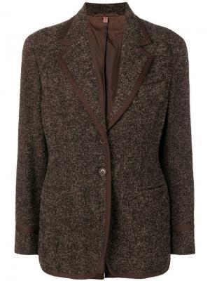 Фактурная куртка 1990-х годов Romeo Gigli Pre-Owned. Цвет: черный