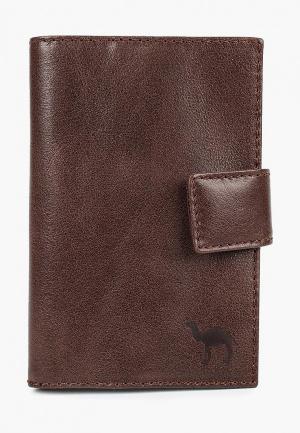 Обложка для паспорта Dimanche. Цвет: коричневый