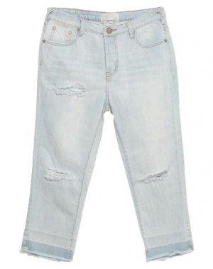 Джинсовые брюки-капри ONETEASPOON. Цвет: синий