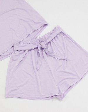 Комбинируемые лавандовые пижамные шорты -Фиолетовый ASOS DESIGN