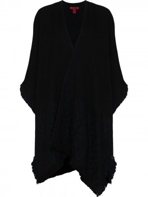 Кашемировая шаль с логотипом Valentino. Цвет: черный