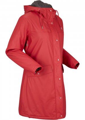 Функциональная куртка-дождевик bonprix. Цвет: красный