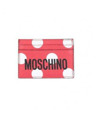 Чехол для документов MOSCHINO. Цвет: красный