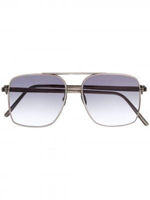 Солнцезащитные очки в квадратной оправе WERKSTATT:MÜNCHEN. Цвет: серебристый