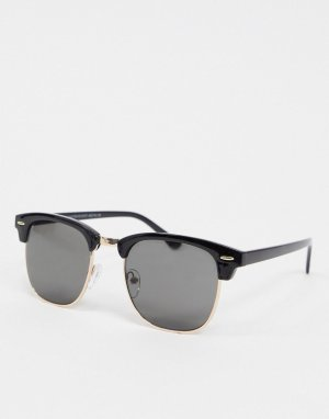 Черные солнцезащитные очки -Черный New Look