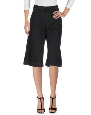 Джинсовые брюки-капри JIJIL LE BLEU. Цвет: черный