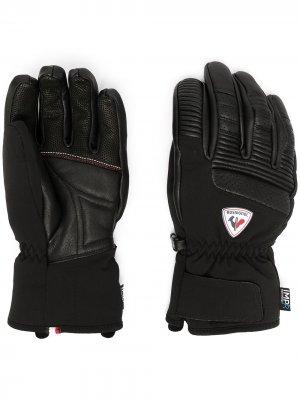 Перчатки с нашивкой-логотипом Rossignol. Цвет: черный