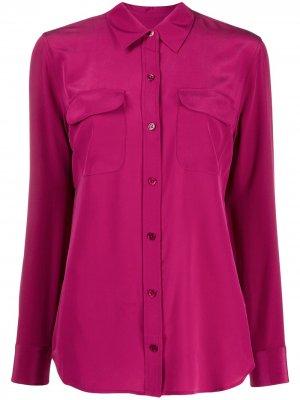 Рубашка на пуговицах Equipment. Цвет: розовый