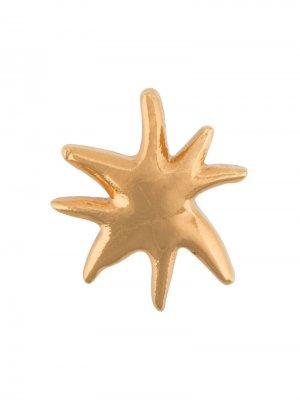 Брошь в виде морской звезды Christian Lacroix Pre-Owned. Цвет: золотистый