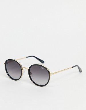 Черные круглые очки в стиле унисекс Quay Firefly Mini-Черный цвет Australia