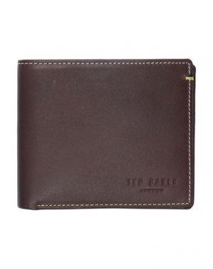 Бумажник TED BAKER. Цвет: темно-коричневый