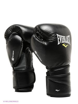 Перчатки Protex2 Leather 14 oz Everlast. Цвет: черный