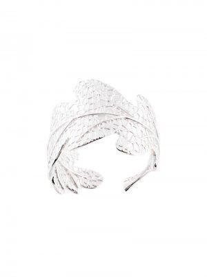 Кольцо в форме дубового листа Karen Walker. Цвет: серебристый
