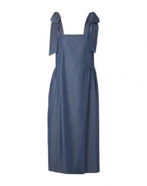 Платье длиной 3/4 HATCH. Цвет: синий