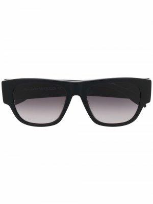 Солнцезащитные очки в квадратной оправе Alexander McQueen. Цвет: черный