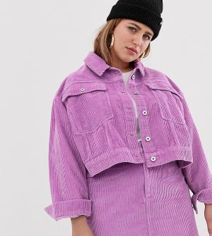 Укороченная джинсовая куртка COLLUSION Plus. Цвет: фиолетовый