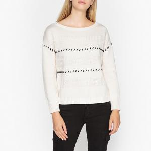 Пуловер трикотажный IKKS. Цвет: экрю