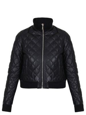 Куртка стеганая кожаная Philipp Plein. Цвет: разноцветный