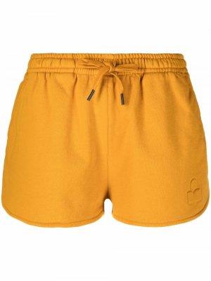 Спортивные шорты с кулиской и тисненым логотипом Isabel Marant Étoile. Цвет: оранжевый