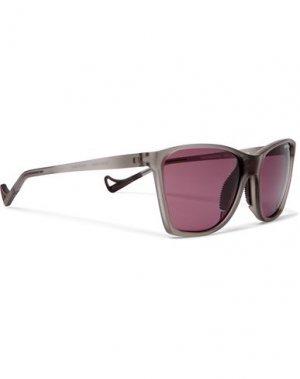 Солнечные очки DISTRICT VISION. Цвет: серый