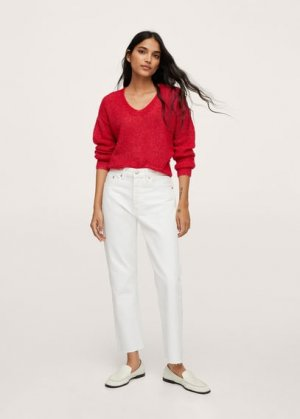 Пуловер из трикотажа - Gery Mango. Цвет: красный