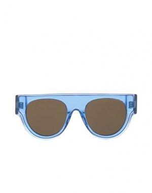Солнечные очки CELINE. Цвет: синий