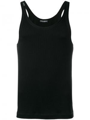 Топ облегающего кроя Dolce & Gabbana. Цвет: черный