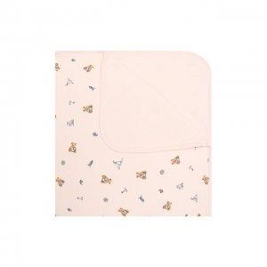 Хлопковое одеяло Polo Ralph Lauren. Цвет: розовый