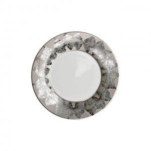 Тарелка салатная platinum Silva Bernardaud. Цвет: серебряный