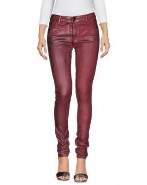 Джинсовые брюки 75 FAUBOURG. Цвет: красно-коричневый