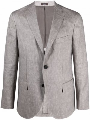 Однобортный пиджак Peserico. Цвет: серый