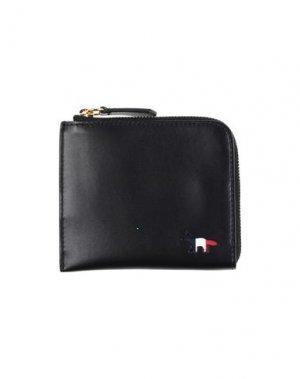 Бумажник MAISON KITSUNÉ. Цвет: черный
