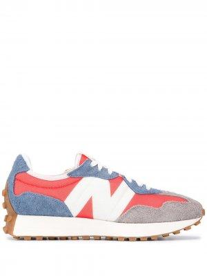 Кроссовки 327 в стиле колор-блок New Balance. Цвет: оранжевый