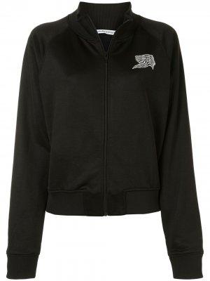 Куртка на молнии с логотипом T By Alexander Wang. Цвет: черный