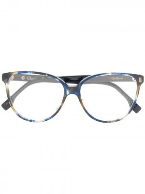 Очки в круглой оправе Dior Eyewear. Цвет: синий
