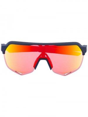 Солнцезащитные очки с эффектом градиент 100% Eyewear. Цвет: синий