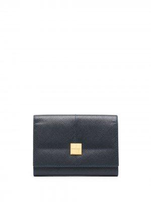 Бумажник с логотипом Yves Saint Laurent Pre-Owned. Цвет: синий