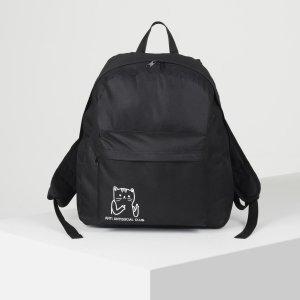 Рюкзак молодёжный anti antisocial club, 33х13х37 см, отдел на молнии, наружный карман, цвет чёрный NAZAMOK