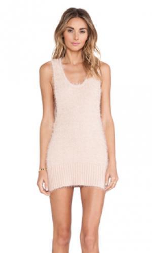 Платье-майка ski bunny For Love & Lemons. Цвет: персиковый
