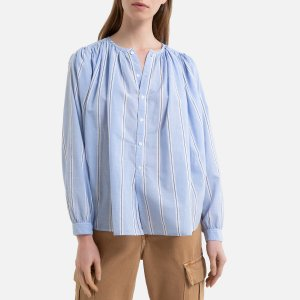 Рубашка LaRedoute. Цвет: фиолетовый